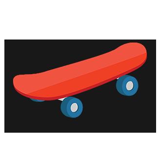 Skateboarding logo