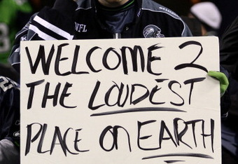 SEATTLE, WA - JANUARY 02:  A fan of the Seattle Seahawks holds a sign during their game against the St. Louis Rams at Qwest Field on January 2, 2011 in Seattle, Washington.  (Photo by Otto Greule Jr/Getty Images)