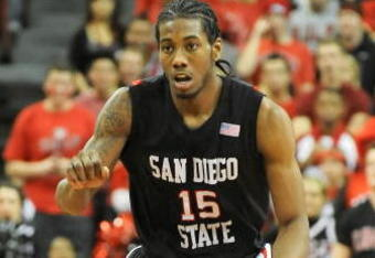 San Diego State's Kawhi Leonard leads the team in rebounding and scoring.