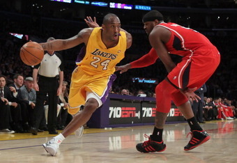 Kobe Bryant can get creative on the wing because of James Naismith's design of the game.
