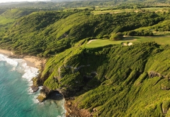 The 17th green at Royal Isabela.