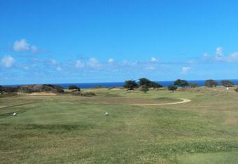 "The links along the ocean cliffs of ""Tropical Scotland"" begin on the 10th tee."