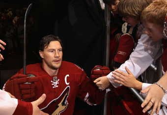 """There's no place like home, there's no place like home"" Doan keeps telling himself despite the fact he's Canadian."