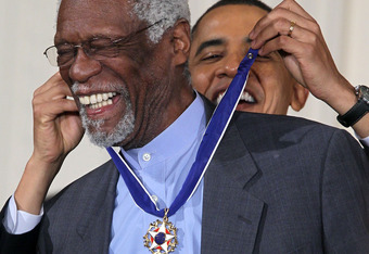 Getting the Medal of Freedom from President Obama in 2010.