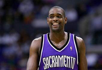 January 17, 2005:  In L.A., Chris Webber flashes his trademark smile.  He had a similar smirk when discussing Dirk on TNT.