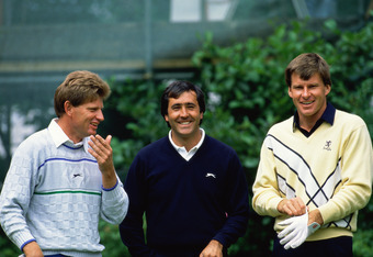 Nick Price, Seve Ballesteros, Nick Faldo at '88 Open