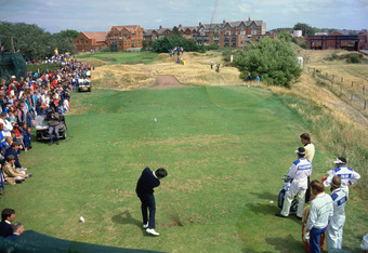Ballesteros at 18th Tee of Royal Lytham in '88 Open