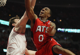 Jeff Teague attempts to show why he was a first round pick.