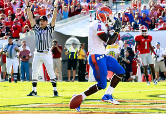 Touchdown, Chris Rainey! The Gators hope to see a lot of that in the 2011 season.