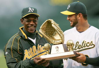 Ron Washington (left)  was passed over by Geren for the managerial position in 2007, increasing Billy Beane's reputation for placing little value on the position.