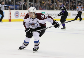 LOS ANGELES, CA - FEBRUARY 26:  Paul Stastny #26 of the Colorado Avalanche skates against the Los Angeles Kings at Staples Center on February 26, 2011 in Los Angeles, California.  (Photo by Jeff Gross/Getty Images)