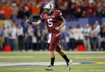 Guess who's coming back? Stephen Garcia, who passed for 3,050 yards in 2010; was reinstated last week. the Quarterback is back from his fifth suspension and should be on the field for the Gamecocks' opener versus East Carolina in Charlotte, NC. Garcia represents SC's best chance to return to the SEC Championship.