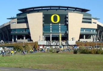 Autzen Stadium on the University of Oregon campus