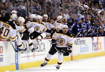 VANCOUVER, BC - JUNE 15:  Brad Marchand #63 of the Boston Bruins celebrates after defeating the Vancouver Canucks in Game Seven of the 2011 NHL Stanley Cup Final at Rogers Arena on June 15, 2011 in Vancouver, British Columbia, Canada. The Boston Bruins de