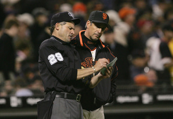 51 year old San Francisco Giants bench coach Ron Wotus