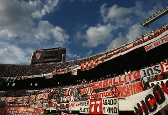BUENOS AIRES, ARGENTINA - FEBRUARY 10:  A general view inside the Estadio Monumental before the Primera Division closing season match between River Plate and Gimnasia de Jujuy at the Estadio Monumental on February 10, 2008 in Buenos Aires, Argentina.  (Ph