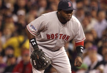 Ortiz manned first base in the 2007 World Series