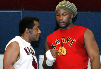 Emanuel Steward with former world heavyweight champion Lennox Lewis