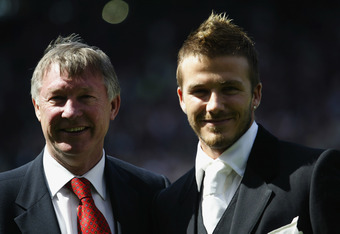 Double vision: Ferguson and Beckham were both on the guest list