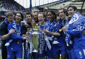 Chelsea wins their EPL trophy in 2005
