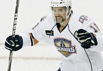 Colin McDonald was last year's leading goal scorer in the AHL with 42 goals. He played for the Oklahoma City Barons.