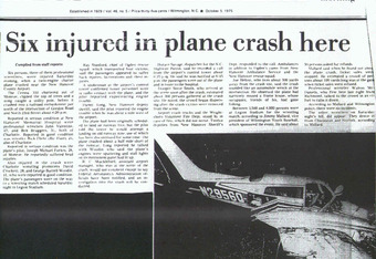 Flair's plane crash documented locally.
