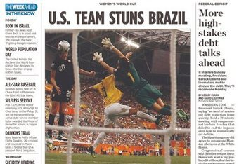 The Miami Herald front page on Monday morning following the win | Courtesy of US Soccer