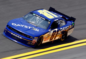 DAYTONA BEACH, FL - JULY 01:  Blake Koch, driver of the #81 Daystar.com Dodge, drives during qualifying for the NASCAR Nationwide Series Subway Jalapeno 250 Powered by Coca-Cola at Daytona International Speedway on July 1, 2011 in Daytona Beach, Florida.