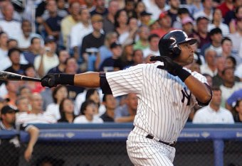 Forced out, Bernie Williams hit over 280 in his last year with the Yankees at age 37 for Melky Cabrera