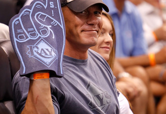 "John Cena could take in more Tampa Bay Rays games when he is ""fired"" from WWE."