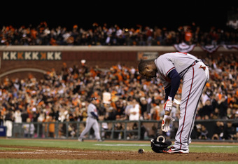 The Braves just couldn't hit the Giants last postseason.