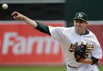 Trevor Cahill started game one of the doubleheader for Oakland.