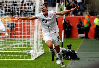 Abby Wambach has led the way in front of goal for the Americans.