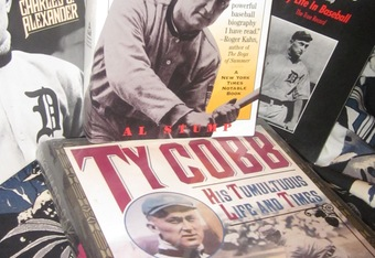 "Books from Author's ""Ty Cobb Memorial Baseball Collection"""
