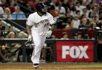 PHOENIX, AZ - JULY 12:  National League All-Star Prince Fielder #28 of the Milwaukee Brewers runs the bases after hitting a three-run home run in the fourth inning of the 82nd MLB All-Star Game at Chase Field on July 12, 2011 in Phoenix, Arizona.  (Photo