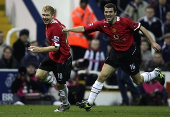 Paul Scholes and Roy Keane