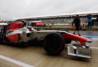 Daniel Ricciardo, the latest driver for Hispania Racing, in action at the 2011 British Grand Prix.