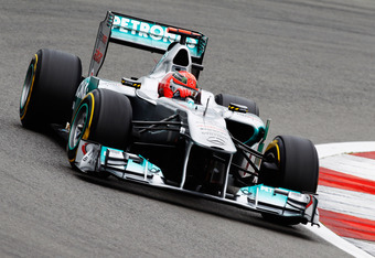 Michael Schumacher helped keep it interesting in Q2