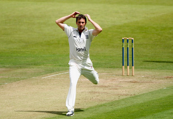 Tim Murtagh's match figures of 10-128 helped Middlesex beat Surrey