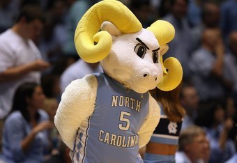 CHAPEL HILL, NC - MARCH 8:  The North Carolina Tar Heels mascot Rameses looks on during the game against the Duke Blue Devils at the Dean E. Smith Center on March 8, 2009 in Chapel Hill, North Carolina. (Photo by Streeter Lecka/Getty Images)