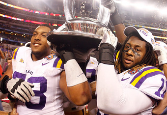 A Crystal Trophy is expected from LSU fans in 2011
