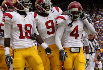 The Trojans took an early 7-0 lead on Joe McKnight's touchdown run