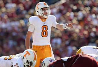 WIll Tyler Bray or Matt Simms start under center in 2011 for the Volunteers?