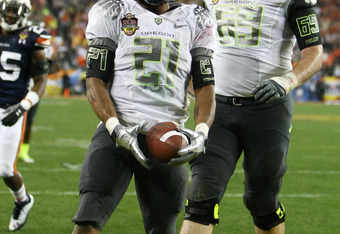 LaMichael James and Oregon will play an SEC team for the second straight game when it opens the 2011 season against LSU.