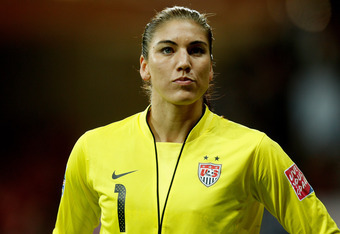 FRANKFURT AM MAIN, GERMANY - JULY 17:  Hope Solo of USA looks dejected during the FIFA Women's World Cup Final match between Japan and USA at the FIFA World Cup stadium Frankfurt on July 17, 2011 in Frankfurt am Main, Germany.  (Photo by Friedemann Vogel/