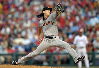July 28, 2010: Tim Lincecum rocks and fires in Philadelphia.  He was virtually unhittable on that fateful day for the Phils.