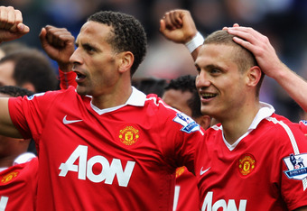 Rio Ferdinand and Nemanja Vidic were key cogs in Manchester United's title winning side last year