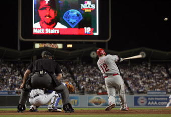 Matt Stairs hitting his magical eighth-inning, pinch-hit, go-ahead home run in Game 4 of the 2008 NLCS.