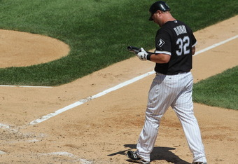 An all too familiar sight for Adam Dunn