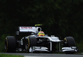 BUDAPEST, HUNGARY - JULY 29:  Pastor Maldonado of Venezuela and Williams drives during practice for the Hungarian Formula One Grand Prix at the Hungaroring on July 29, 2011 in Budapest, Hungary.  (Photo by Lars Baron/Getty Images)